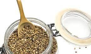 cannabis seeds in a jar